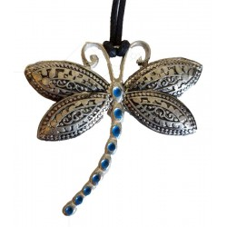 Blue tailed dragonfly amulet