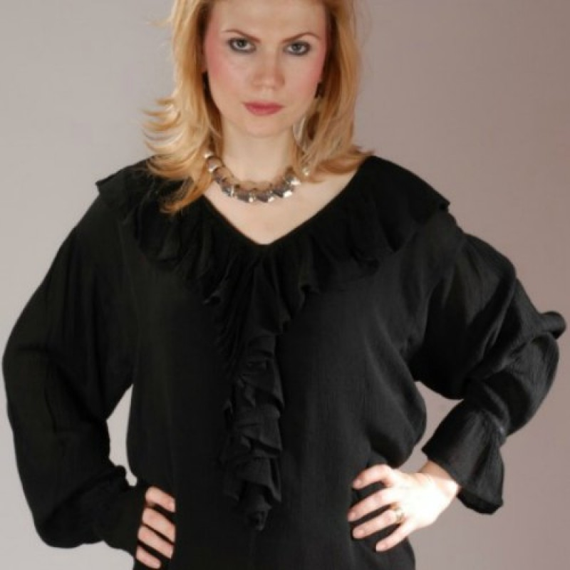 Barbarossa Women S Pirate Blouse In Red Black White