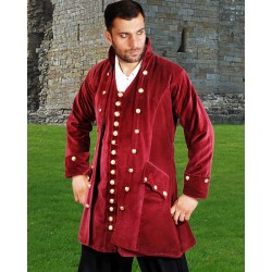 Captain England Men's Velvet Pirate Coat
