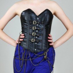 Aviatrix Buckled Leathern Overbust Corset