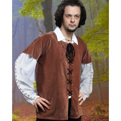 Medieval Men's Velvet Vest Brown, Green & Black