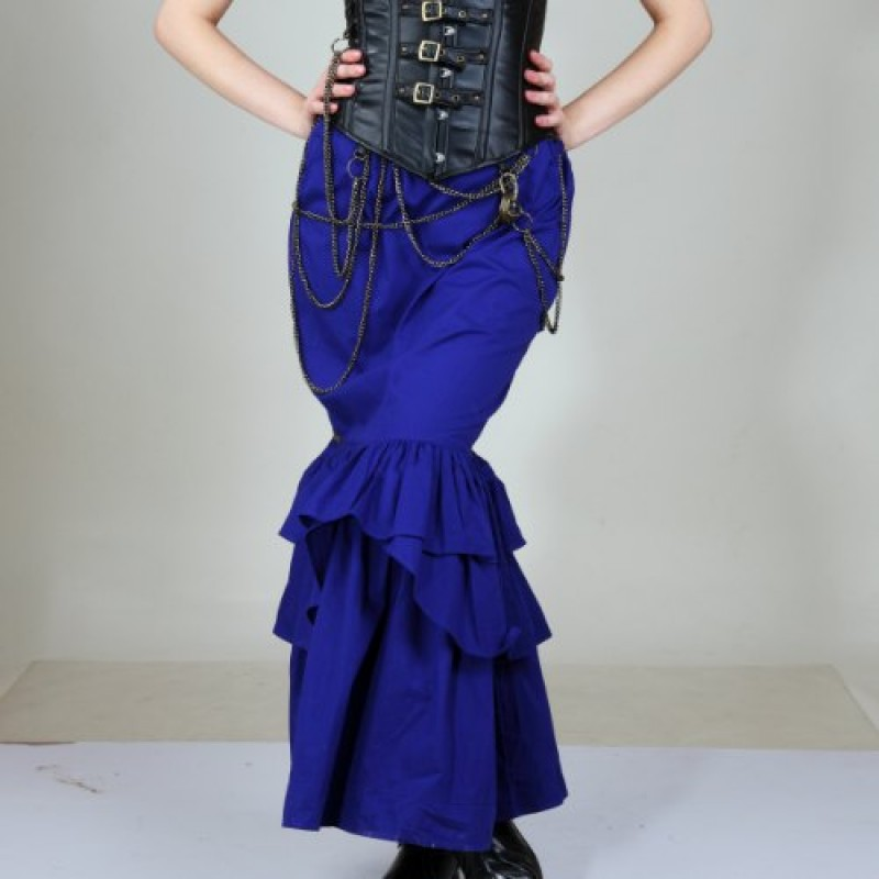 0194585e12 Vanessa Fitted Steampunk Skirt -   PaganRealms.com