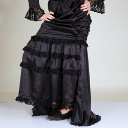 Satin Pegged Victorian Steampunk Skirt