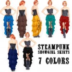 Steampunk Show Girl Skirt 7 Colors