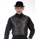 Cavalier Steampunk Black Double-Breasted Vest