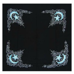 "Celtic Moon Altar Cloth / Scarf 36"" x 36"""
