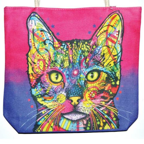 "Cat Jute Tote Bag 14"" x 16"""
