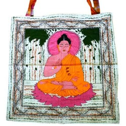 "Meditating Budhha Tote Bag 18"" x 18"""