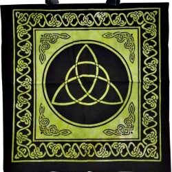 Triquetra Black / Green Tote Bag