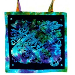 Celtic Dragon Tie Dye Tote Bag