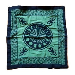 "Celtic Earth Goddess Green / Black Tote Bag 18"" x 18"""