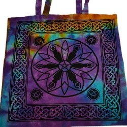 "Goddess Pentagram Triquetra Tote Bag 18"" x 18"""