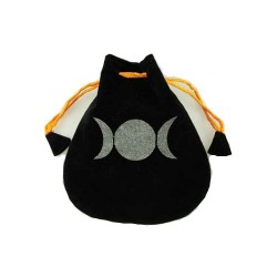 Triple Goddess Velveteen Bag 5""