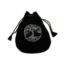 Tree of Life Velveteen Bag 5""