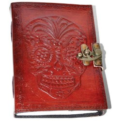 Day of the Dead Leather Blank Book w/ Latch
