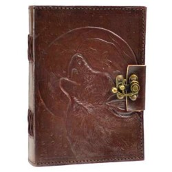 "Wolf Moon Leather Journal w/ Latch 5"" x 7"""
