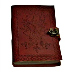 "Greenman Leather Blank Book w/ Latch 5"" x 7"""