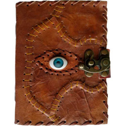 """Sacred Eye Latched Leather Blank Book 5""""x7"""""""