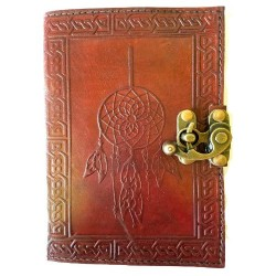 "Dreamcatcher Leather Journal w/ Latch 5"" x 7"""