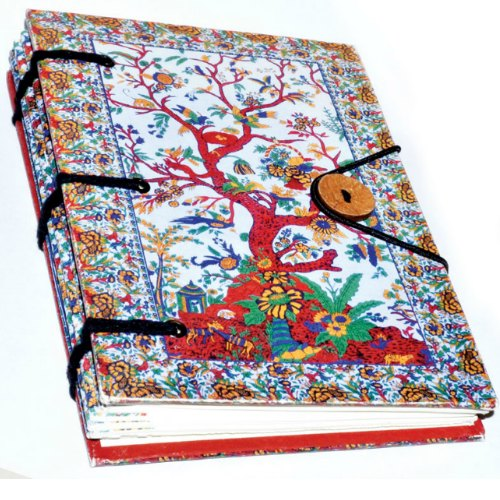 """5"""" x 7"""" Tree of Life Parchment Blank Book (hc)"""