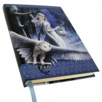"""Midnight Messenger Owl Journal by Anne Stokes 5"""" x 7"""""""