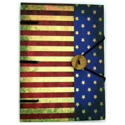 "American Flag Journal 4.5"" x 6.5"" Handmade Parchment"
