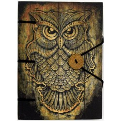 "Owl Journal 4.5"" x 6.5"" Handmade Parchment"