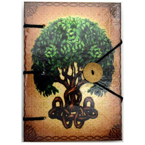 "Brigid Ashwood Tree of Life Journal 4.5"" x 6.5"" Handmade Parchment"