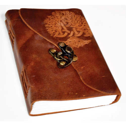 Tree of Life Leather Latched Journal