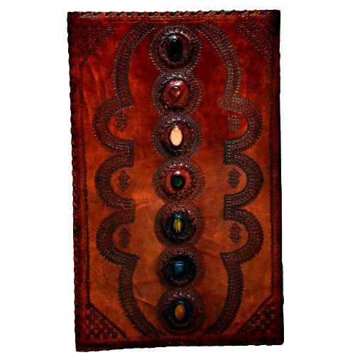7 Stone leather blank book