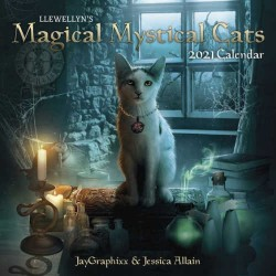 2021 Magical Mystical Cats Calendar by Llewellyn