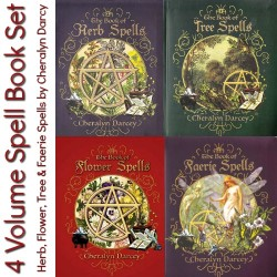 4 Vol. Spell Book Set Cheralyn Darcey Flower, Faerie, Herb & Tree Spells