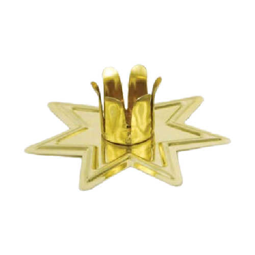 Fairy Star Chime Candle Holders Gold Toned