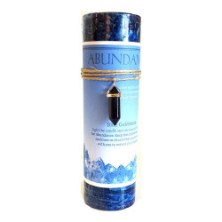 Abundance Pillar Candle & Blue Goldstone Pendant