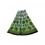 Moon Phase Goddess Skirt on Green Tie Dye
