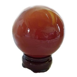 75 mm Cats Eye Red Crystal Ball
