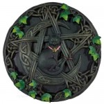 Cat & Pentagram Wall Plaque 7 1/2""