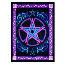 "Celtic Pentagram tapestry 58"" x 82"""