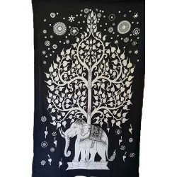 "Elephant Tree Tapestry 54"" x 86"""