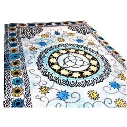 """Floral Triquetra Tapestry 72"""" x 108"""""""