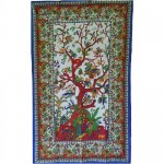 """54"""" x 86"""" Tree of Life tapestry"""