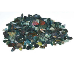 Bloodstone Tumbled Chips 3-5mm 1 lb