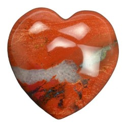Jasper Heart, Brecciated 1.75""
