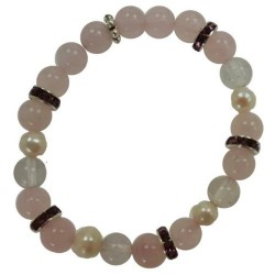 Rose Quartz & Quartz 8mm Bracelet
