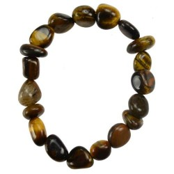 Tiger Eye Chunky Gemstone Bracelet