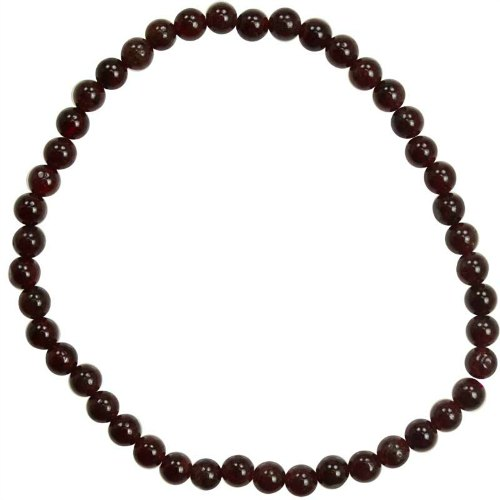 Gemstone Bracelet - 4mm Garnet