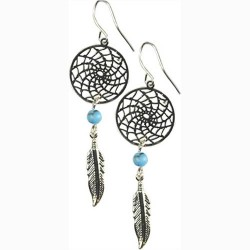 Dream Catcher earring w/ Turquoise
