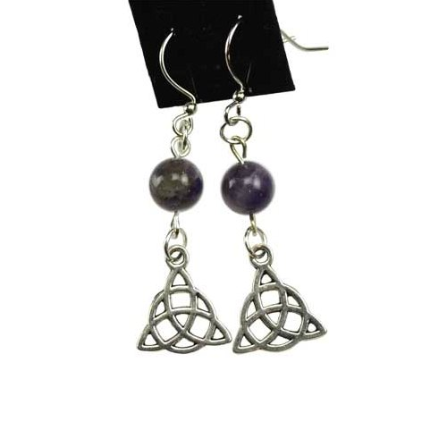 Amethyst Triquetra Earrings
