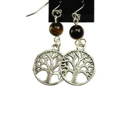 Tiger Eye Tree of Life Earrings