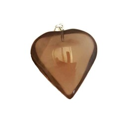 Smoky Quartz Heart Pendant 1""